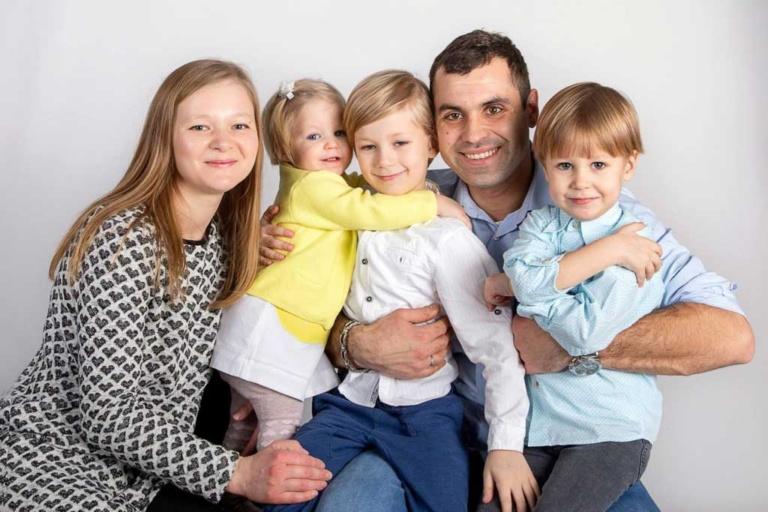 Детская семейная фотосессия