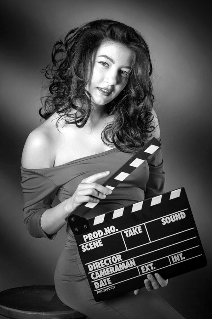 Портрет в ретро стиле Hollywood